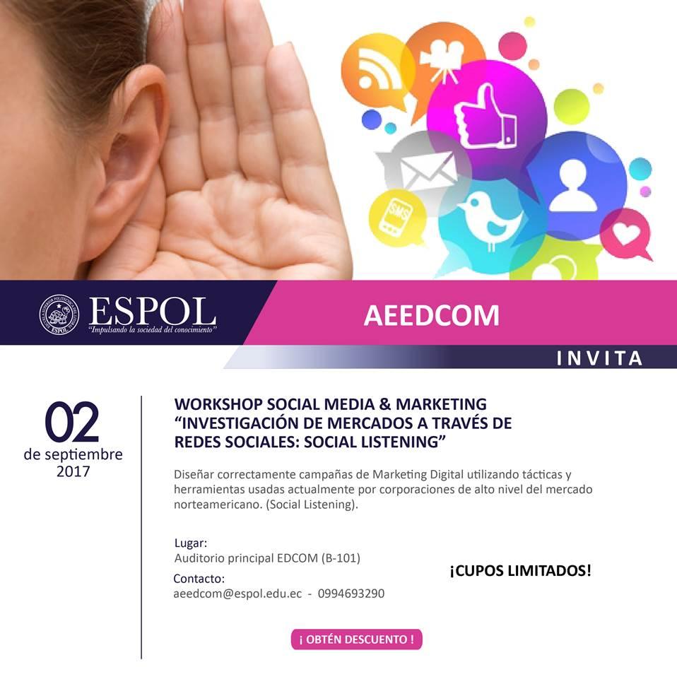 Workshop Social Media & Marketing: Investigación de mercados a través de redes sociales