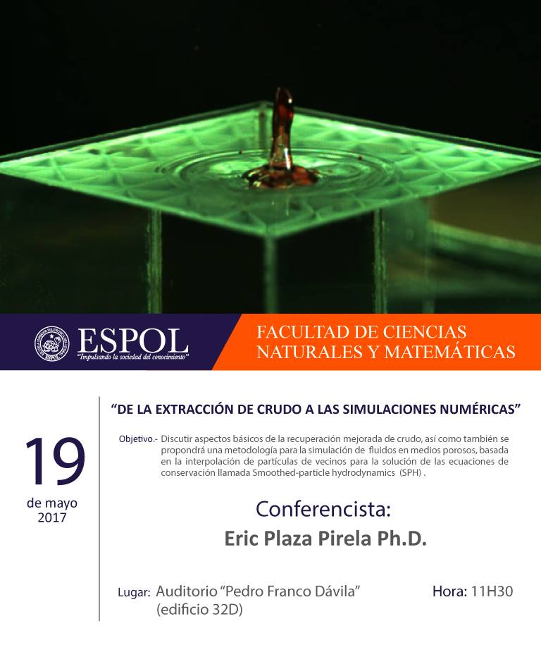 """Conferencia: """"De la extracción de crudo a las simulaciones numéricas"""""""