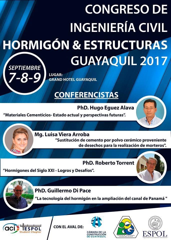 Congreso de Ingeniería Civil, Hormigón y Estructuras Guayaquil 2017