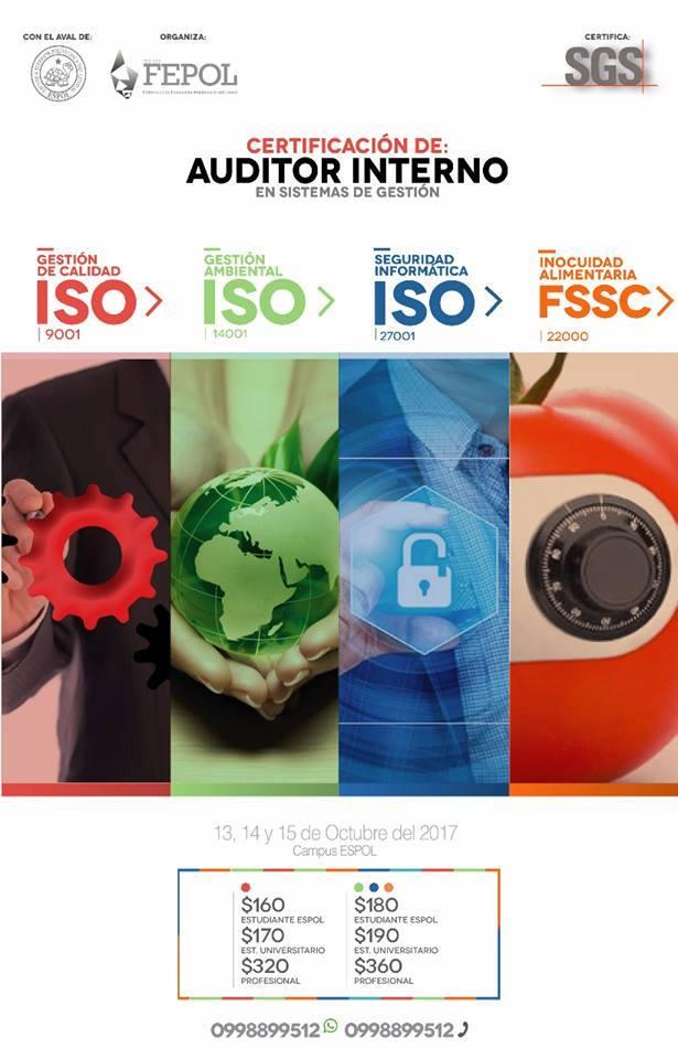 Certificado de Auditor Interno en Sistemas de Gestión