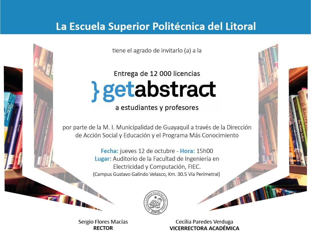 Entrega de 12 000 licencias Getabstract a estudiantes y profesores