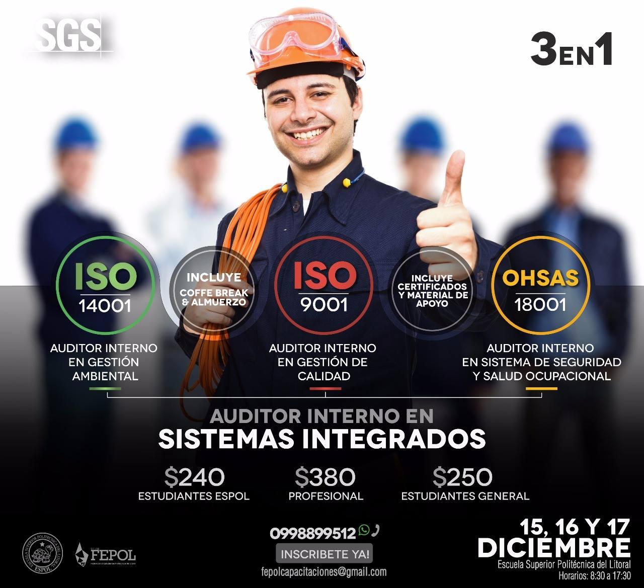 Jornada de capacitación en Auditoría Interna de Sistemas Integrados