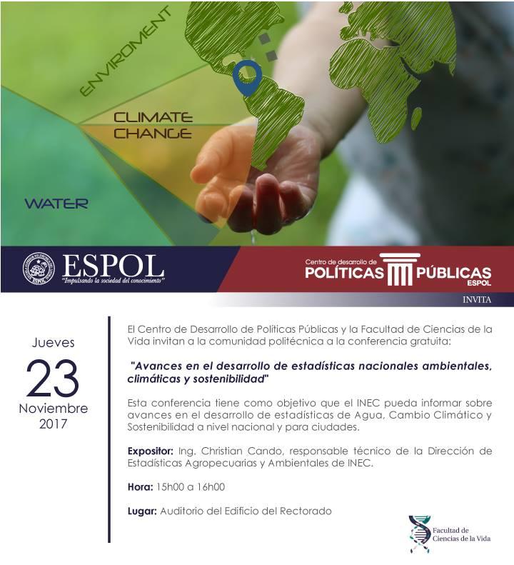 Conferencia: Avances en el desarrollo de estadísticas nacionales ambientales, climáticas y de sostenibilidad