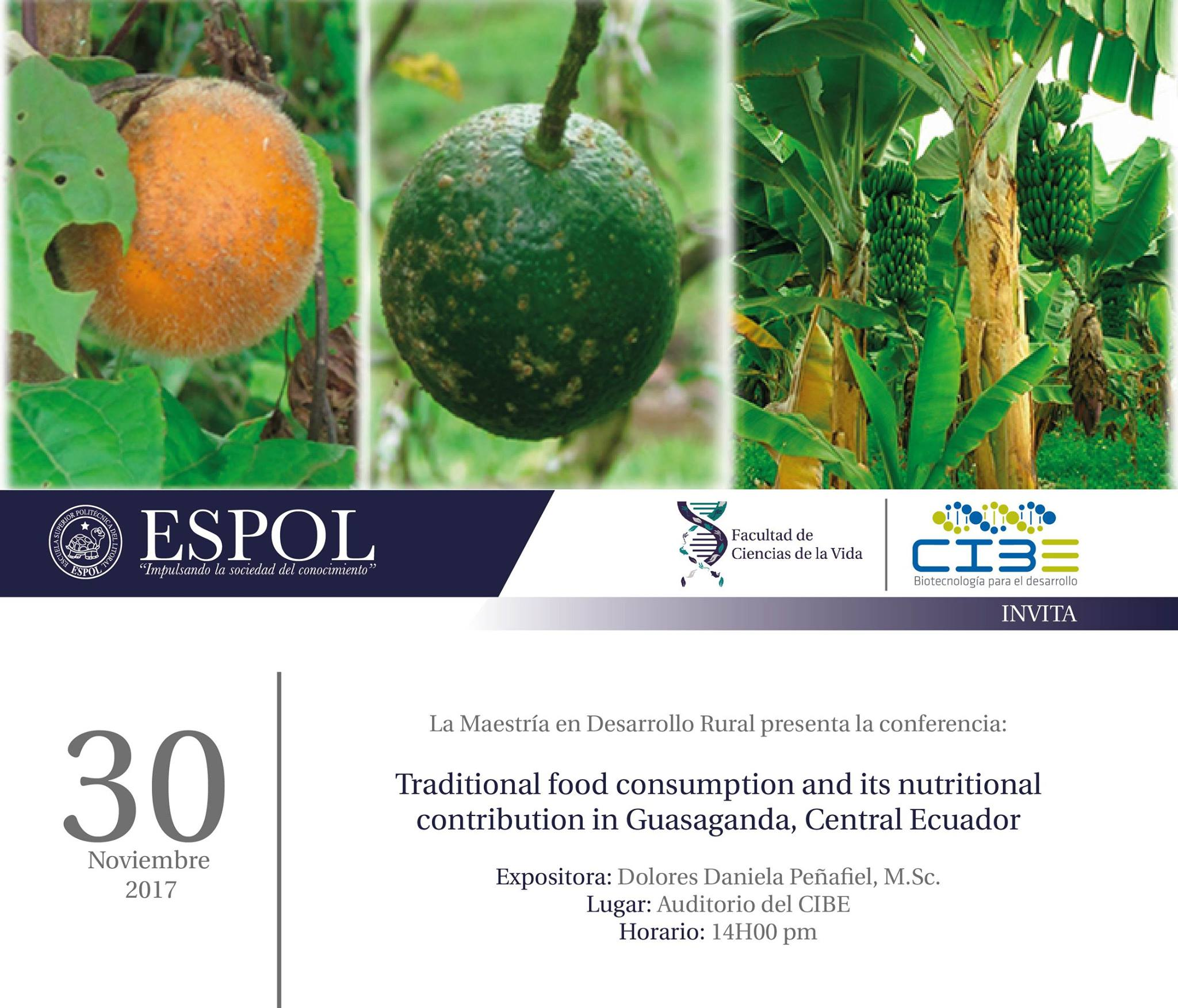 Conferencia: Traditional food consumption and its nutritional contribution in Guasanda , central Ecuador