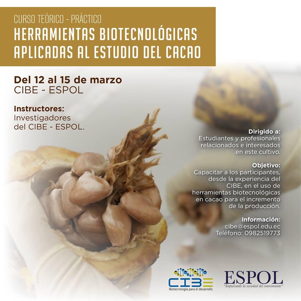 Curso: Herramientas biotecnológicas aplicadas al estudio del cacao