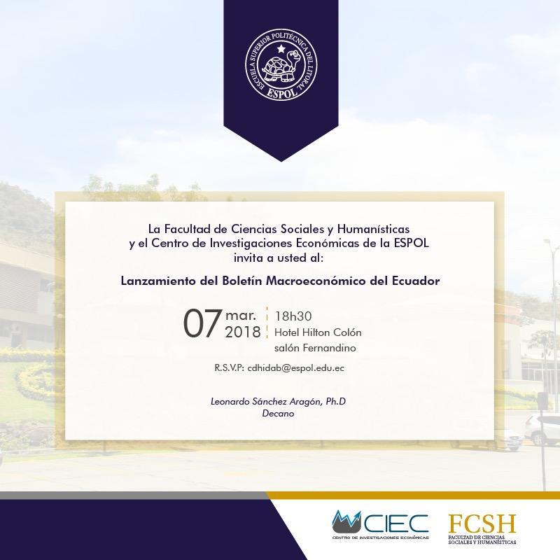 Lanzamiento del Boletín Macroeconómico del Ecuador