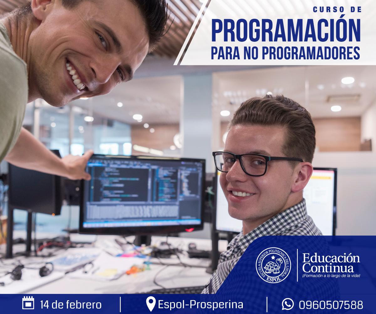 Curso Programación para no programadores CEC ESPOL