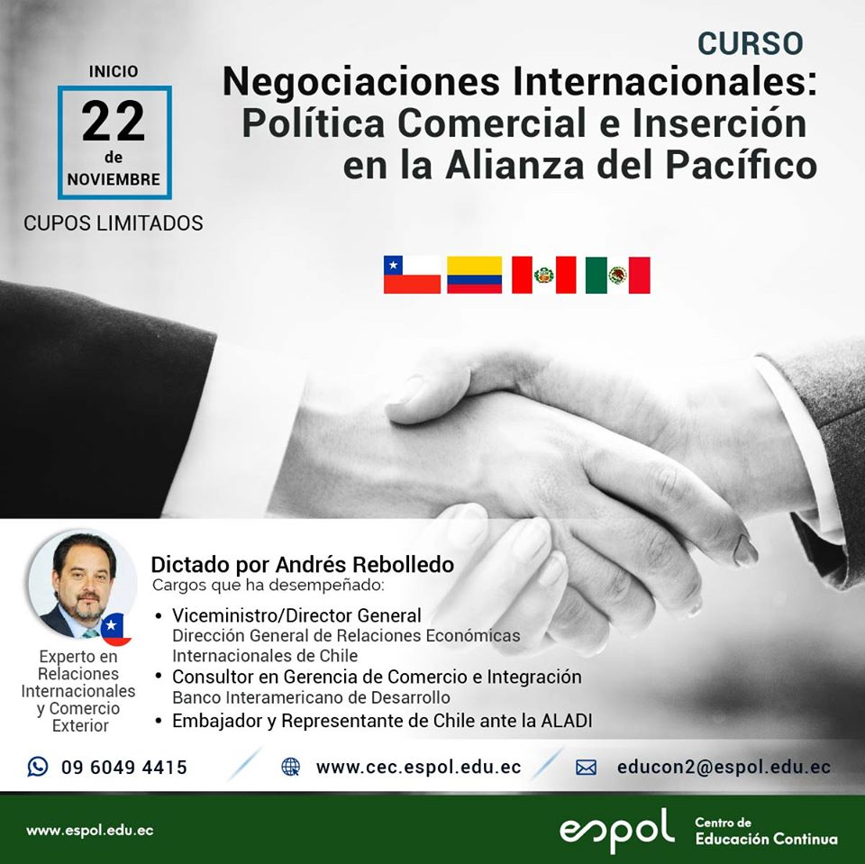 Curso: Negociaciones internacionales, Política comercial e inserción en la Alianza del Pacífico
