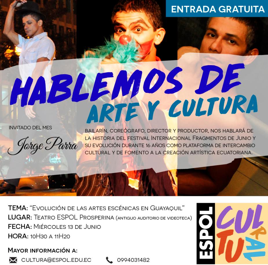 Charla: Evolución de las artes escénicas en Guayaquil