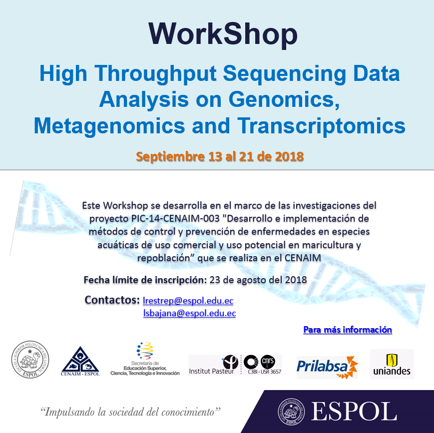 Workshop: High throughput sequencing data analysis on genomics, metagenomics and transcriptomics