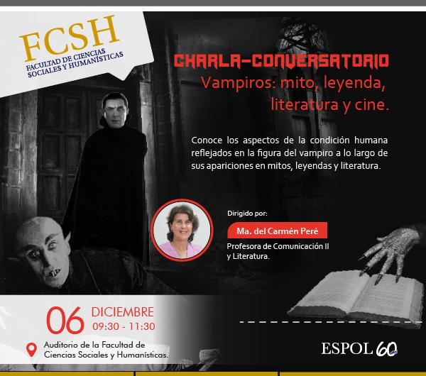 Conversatorio 'Vampiros: mitos, leyenda, literatura y cine'