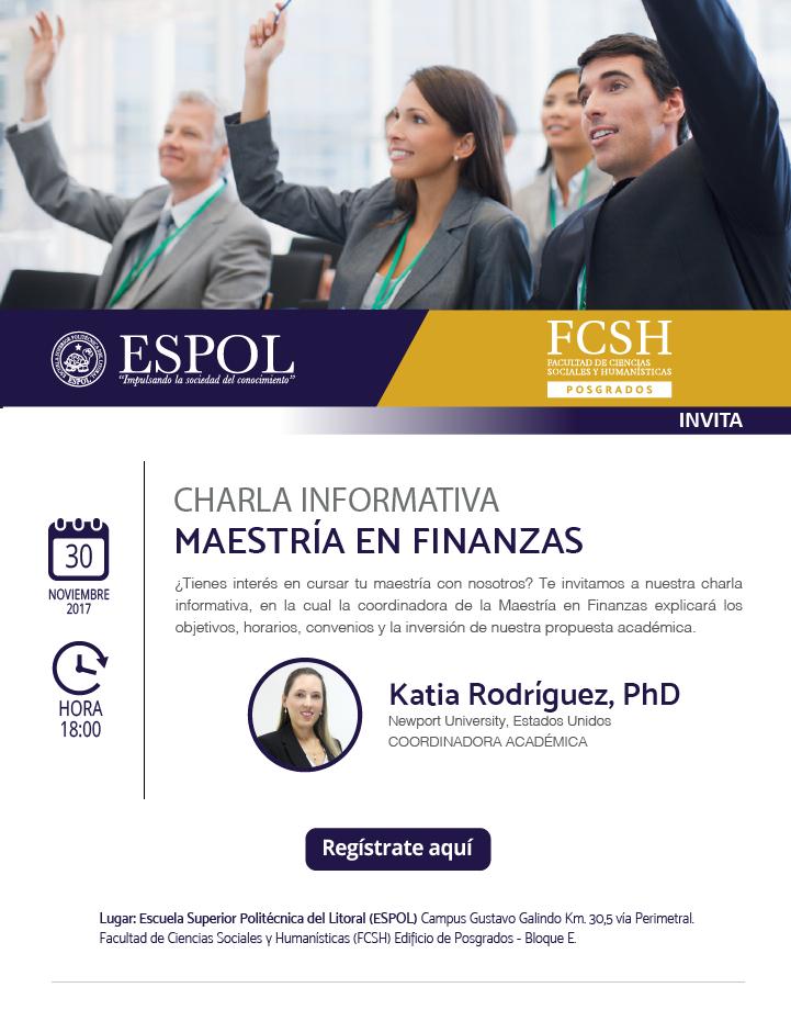 Charla informativa sobre la Maestría en Finanzas