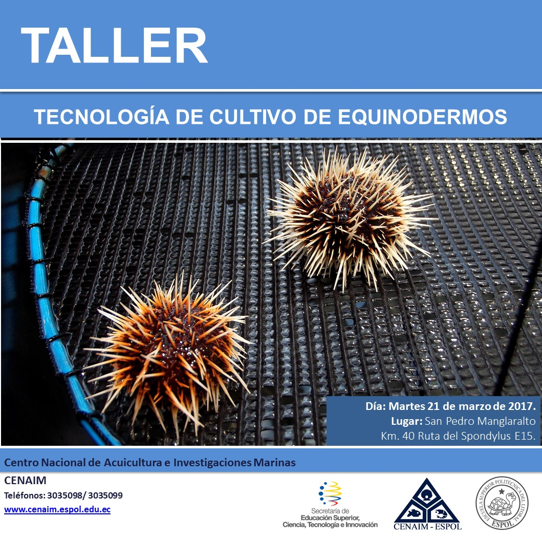 Taller Tecnología de Cultivos de Equinodermos