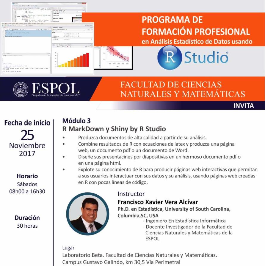 Programa de formación profesional en análisis estadístico de datos usando R Studio