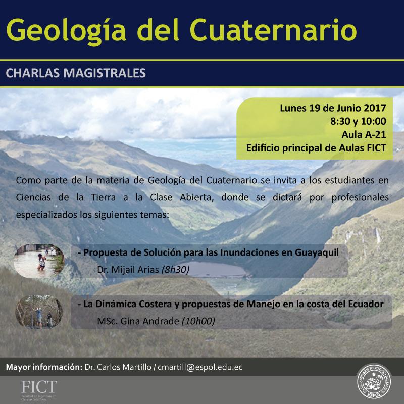 Charlas: Geología del Cuaternario