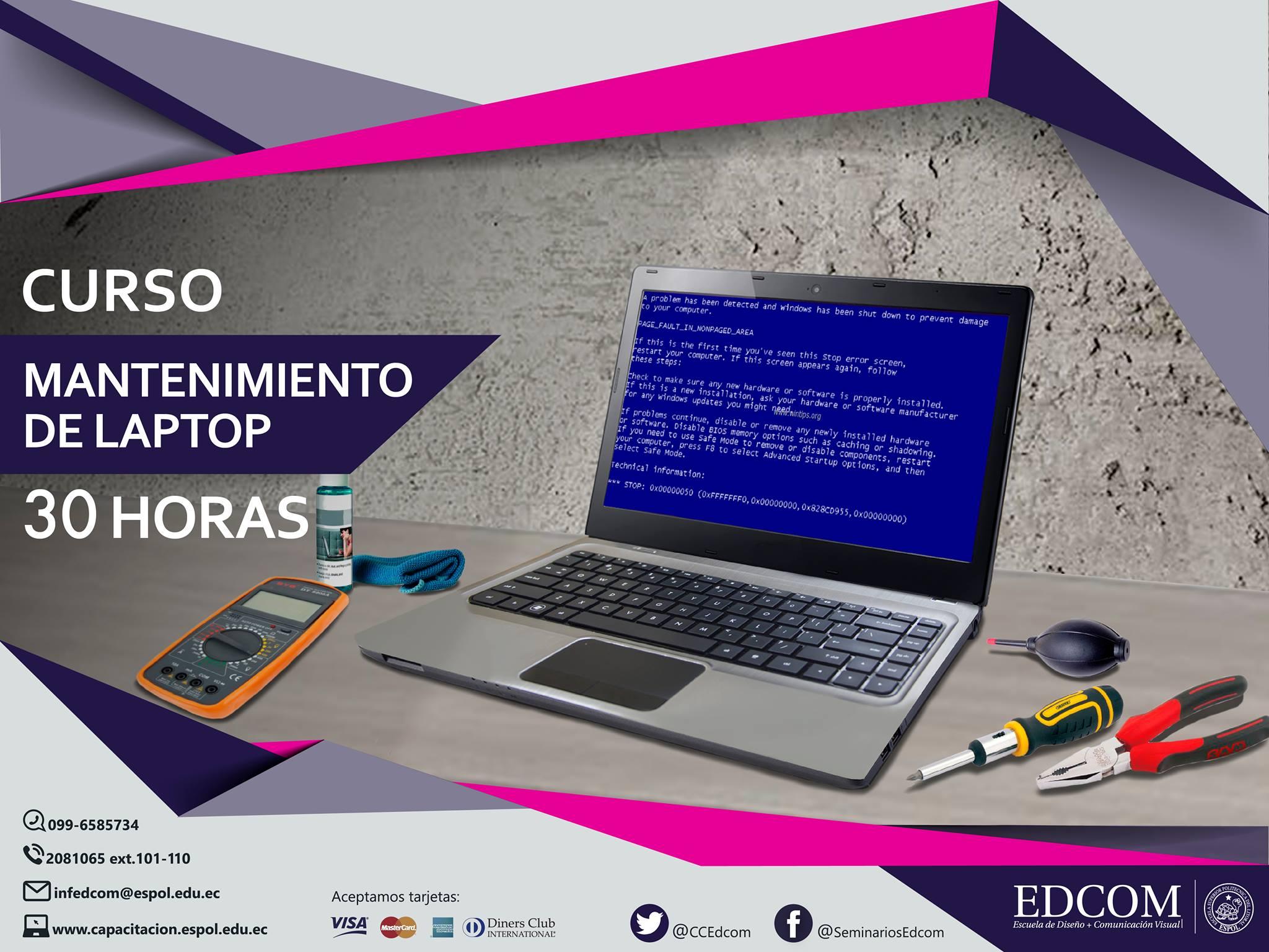 Curso: Mantenimiento de laptops