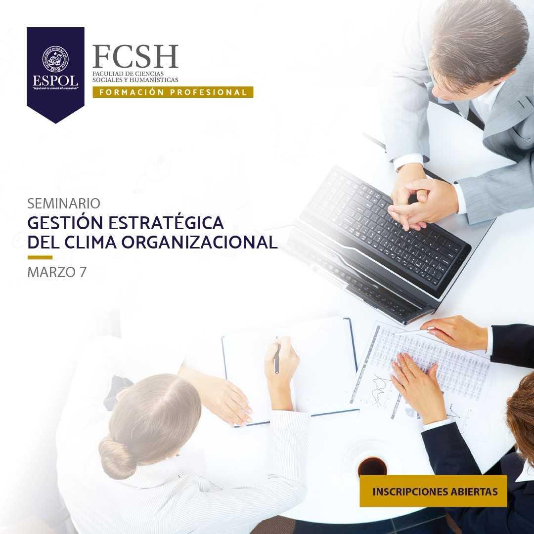 Seminario de Gestión Estratégica del Clima Organizacional