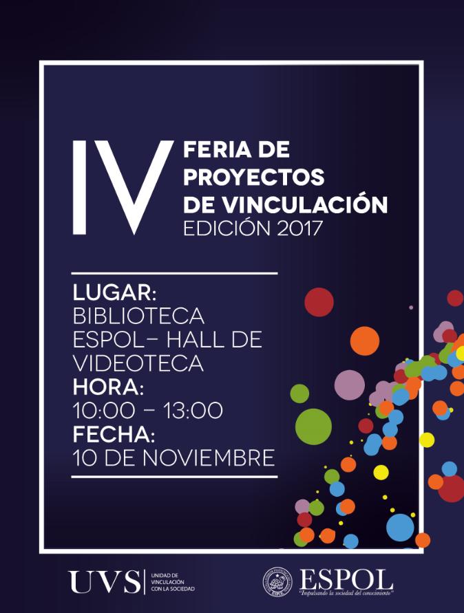 IV Feria de Proyectos de Vinculación