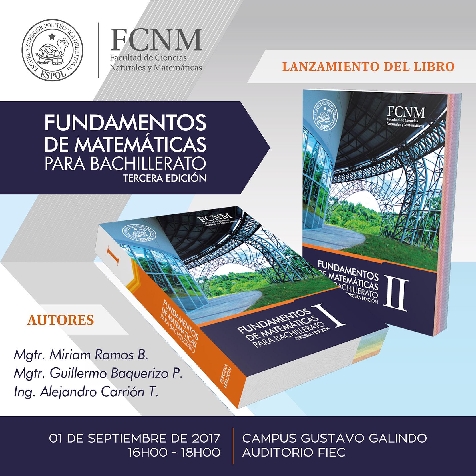 Presentación de la tercera edición del Libro Fundamentos de Matemáticas para Bachillerato
