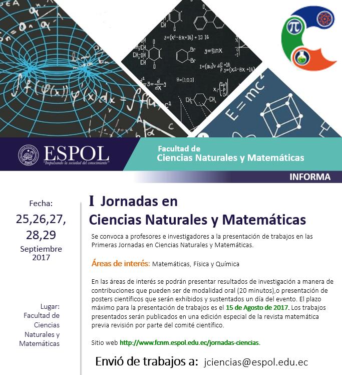 Primeras Jornadas en Ciencias Naturales y Matemáticas