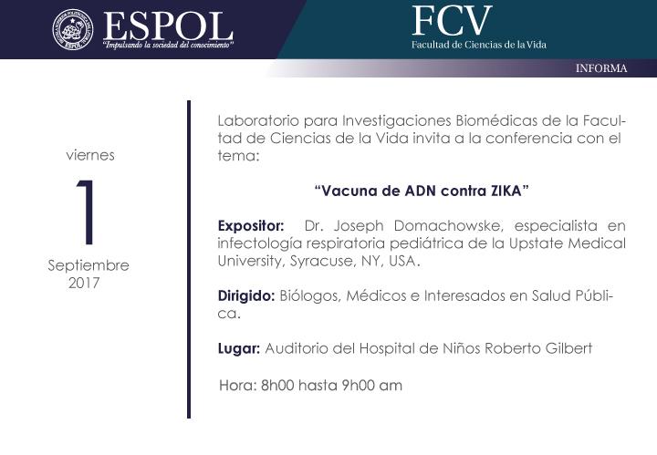 Conferencia: Vacuna de ADN contra ZIKA