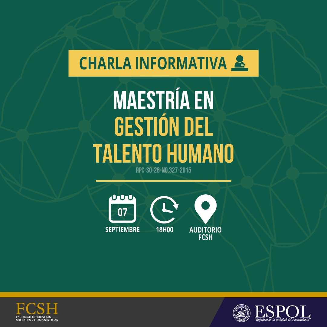 Charla Informativa sobre Maestría En Gestión del Talento Humano