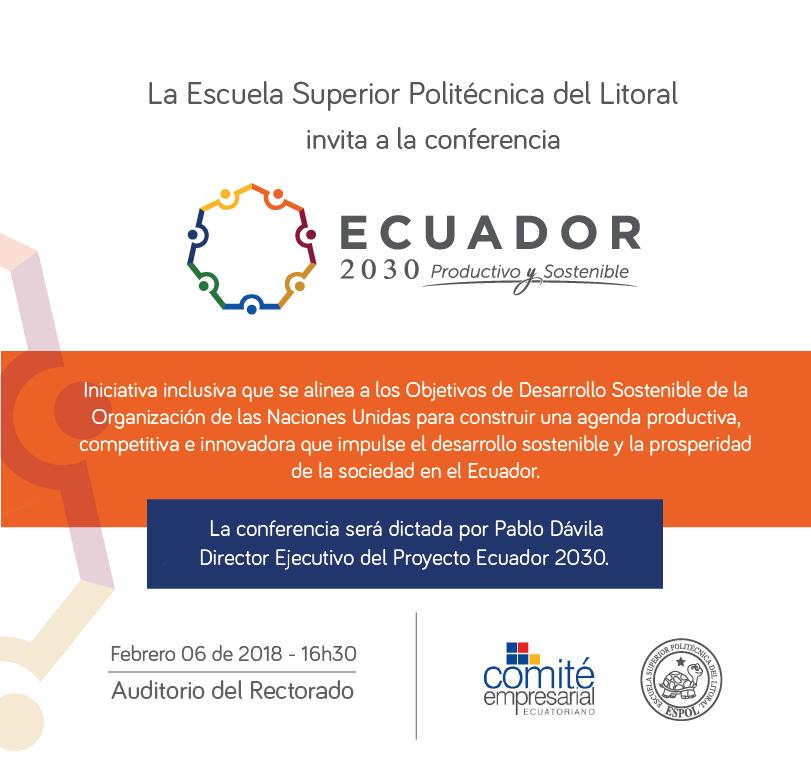 Conferencia: Ecuador 2030, productivo y sostenible