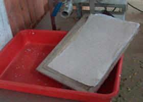 Elaboración de papel a partir de tetrapaks (Maquina)